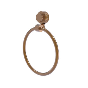 Allied Brass - Venus Collection Towel Ring with Groovy Accent