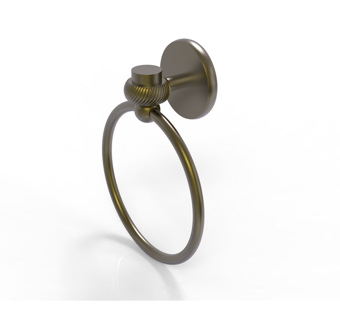 Allied Brass - Satellite Orbit One Collection Towel Ring with Twist Accent