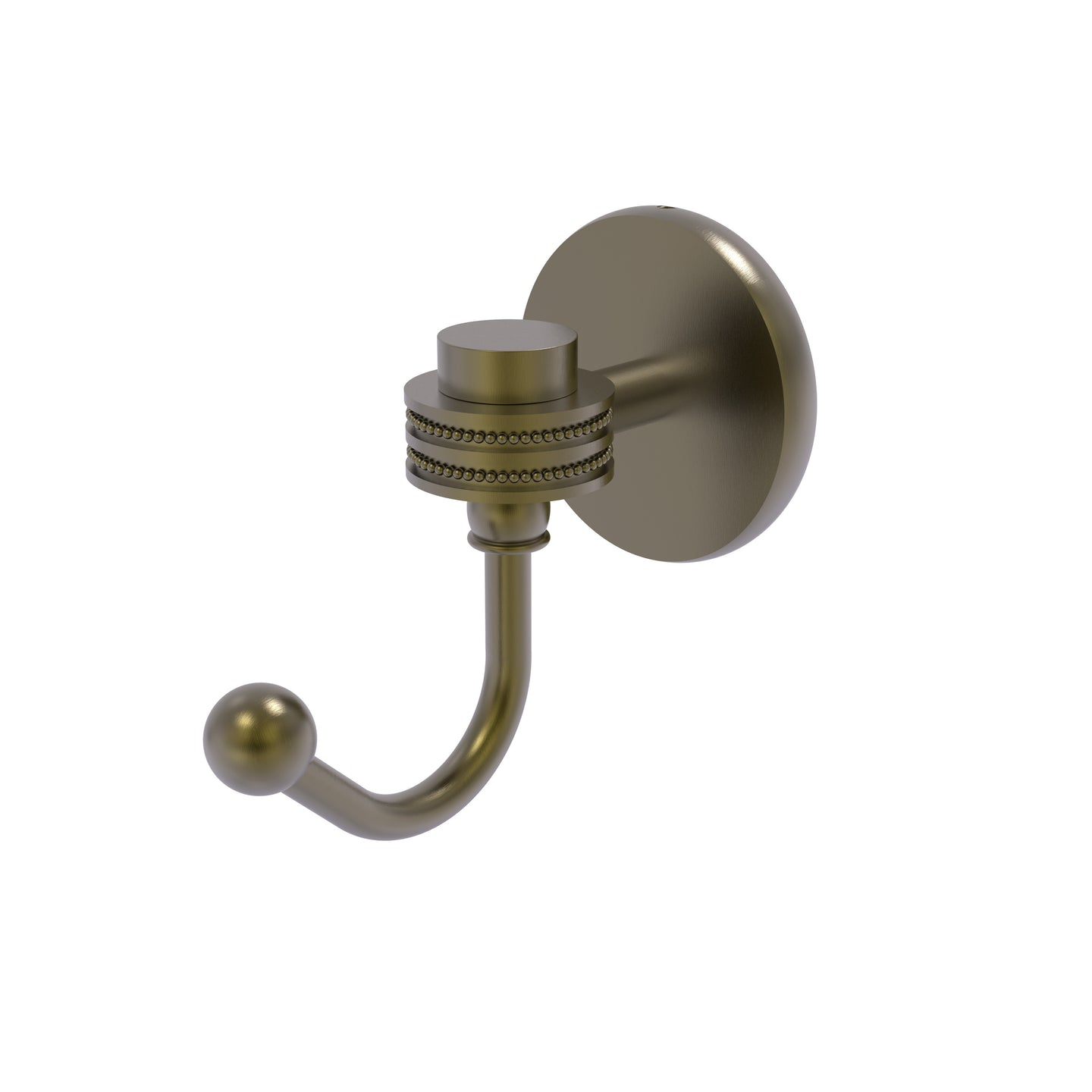 Allied Brass - Satellite Orbit One Robe Hook with Dotted Accents