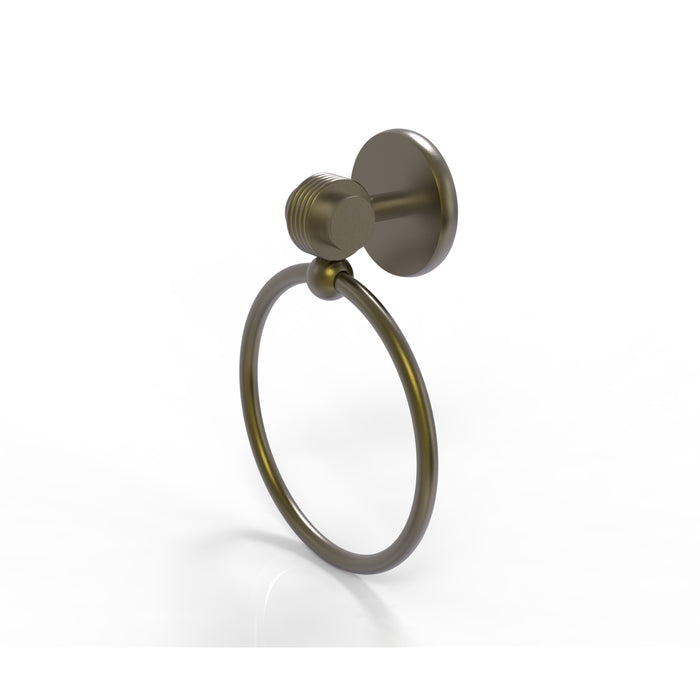 Allied Brass - Satellite Orbit Two Collection Towel Ring with Groovy Accent