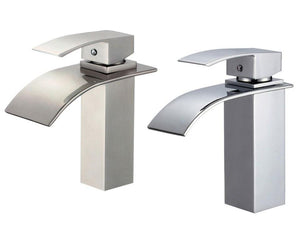 "Gullfoss 8043 7"" Single Hole Single Handle Polished Chrome Bathroom Faucet"