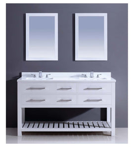 Dawn - Vanity Set: Counter Top (AAPT602235-01), Cabinet (AAPC602235-01) & 2 Mirrors (AAM2230-00)