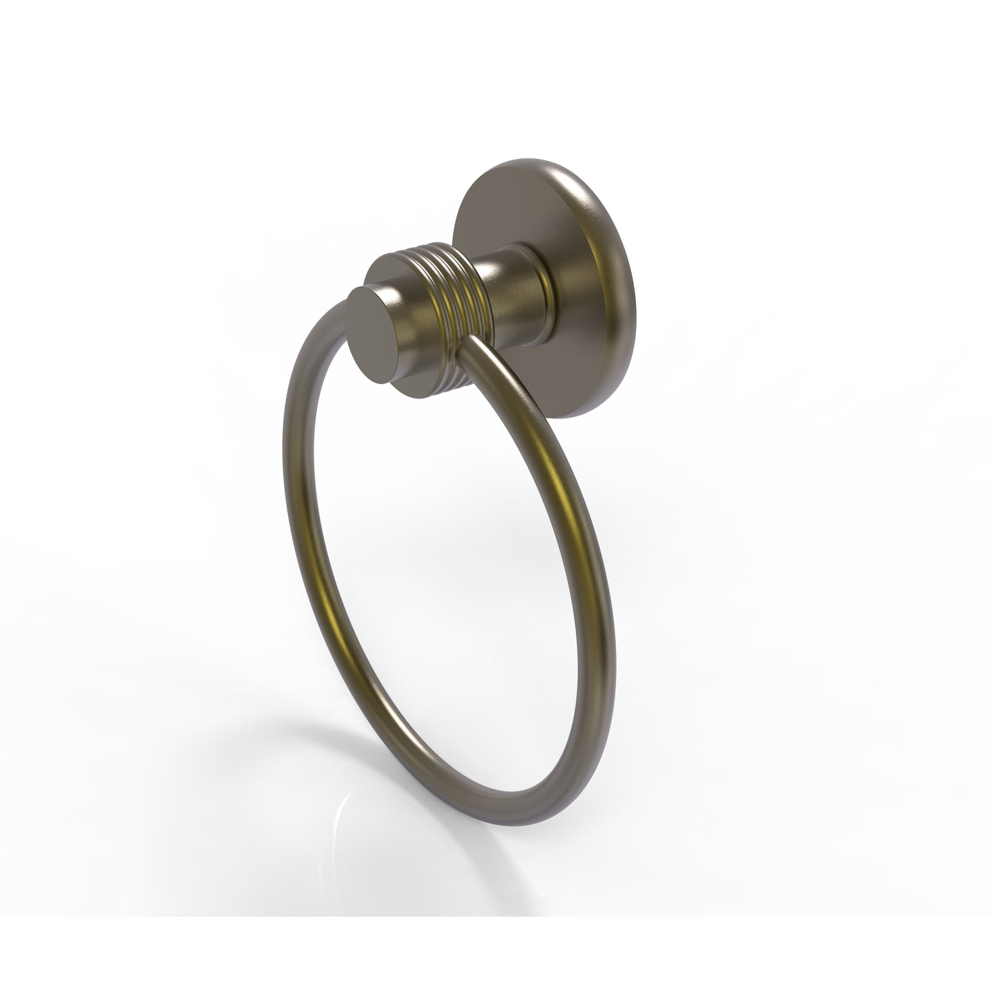 Allied Brass - Mercury Collection Towel Ring with Groovy Accent