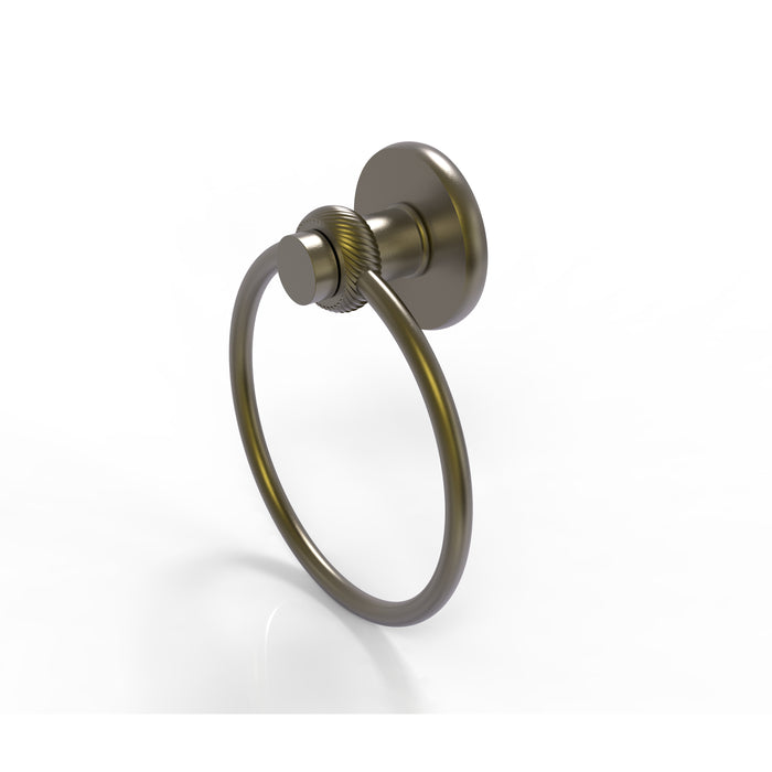 Allied Brass - Mercury Collection Towel Ring with Twist Accent