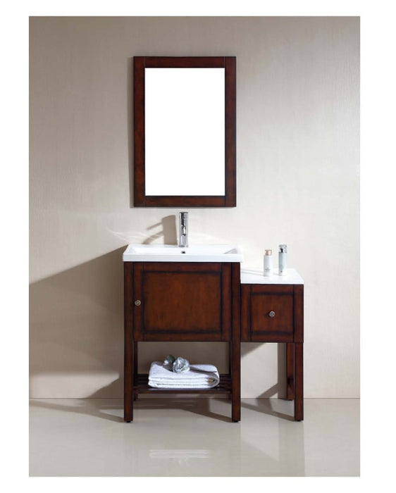 Dawn - Vanity Set: Counter Top (RAT241501-04), Cabinet (RAC231532-04), Side Cabinet (RASC121528-04), Mirror (RAM210131-04)