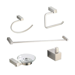 Fresca Ottimo 5-Piece Bathroom Accessory Set - Brushed Nickel
