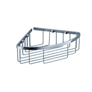 Fresca Single Corner Wire Basket - Chrome