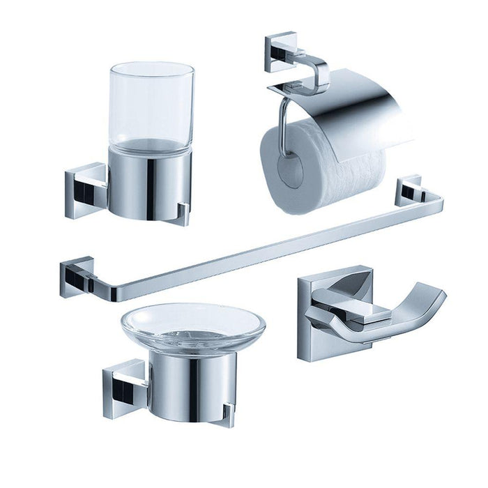Fresca Glorioso 5-Piece Bathroom Accessory Set - Chrome