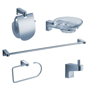 Fresca Generoso 5-Piece Bathroom Accessory Set - Chrome