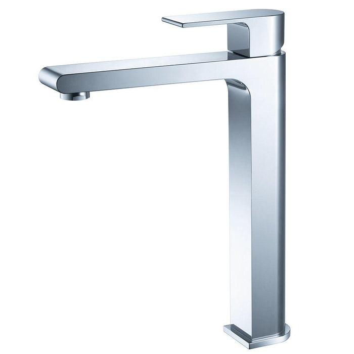 Fresca Allaro Single Hole Vessel Mount Bathroom Vanity Faucet - Chrome