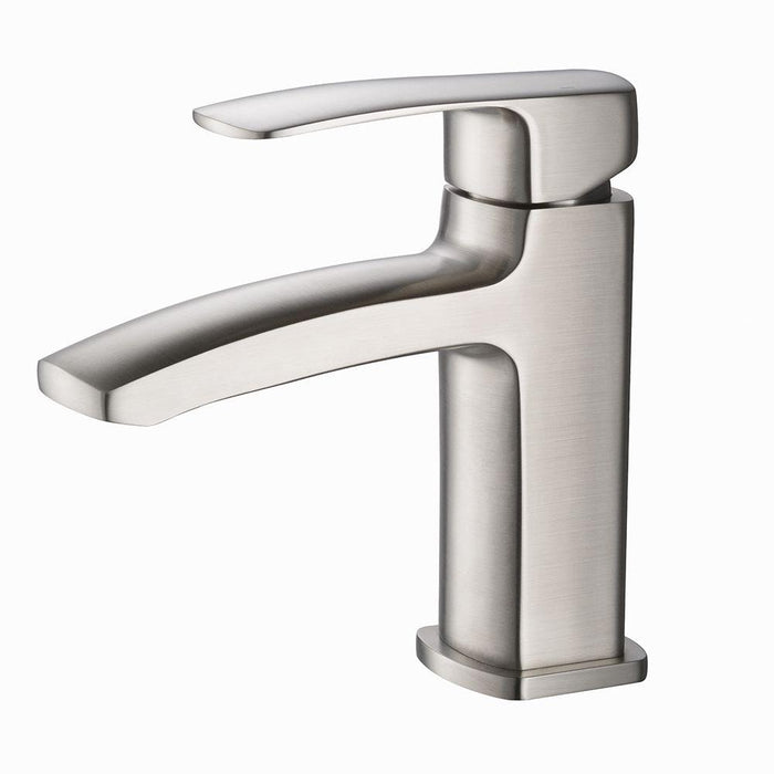 Fresca Fiora Single Hole Mount Bathroom Vanity Faucet - Brushed Nickel