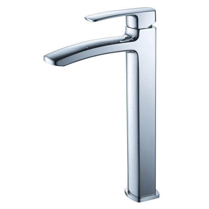 Fresca Fiora Single Hole Vessel Mount Bathroom Vanity Faucet - Chrome