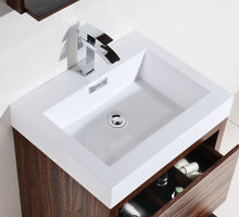"Kubebath - Bliss 24"" Walnut Free Standing Modern Bathroom Vanity"