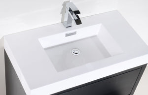 "Kubebath - Bliss 40"" Black Free Standing Modern Bathroom Vanity"