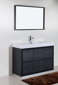 "Kubebath - Bliss 48"" Gray Oak Free Standing Modern Bathroom Vanity"