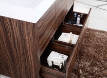 "Kubebath - Bliss 48"" Walnut Free Standing Modern Bathroom Vanity"