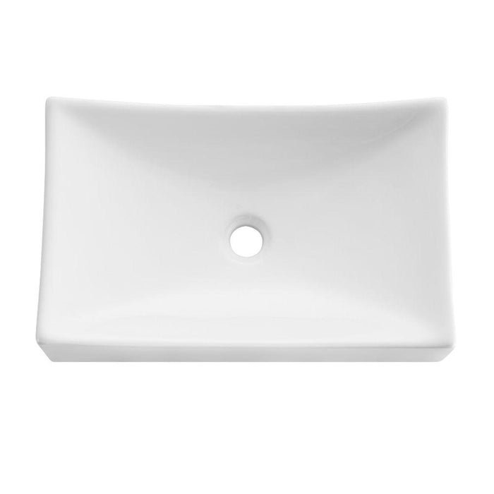 Fresca Distante White Vessel Sink