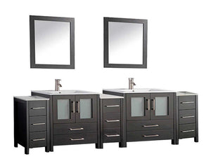 "Argentina 96"" Bathroom Vanity Set, Espresso"