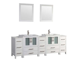 "Argentina 96"" Bathroom Vanity Set, White"