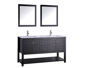 "Norway 72"" Double Sink Bathroom Vanity Set, Espresso"