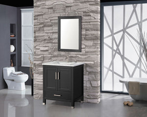 Ricca 30'' Single Sink Bathroom Vanity Set, Espresso