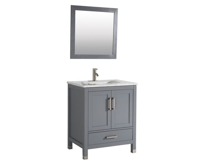 Ricca 30'' Single Sink Bathroom Vanity Set, Grey