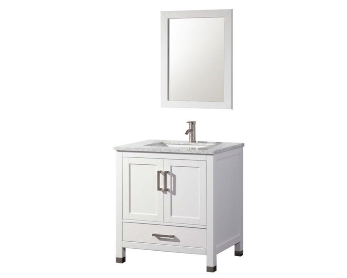 Ricca 30'' Single Sink Bathroom Vanity Set, White