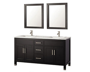 "Ricca 60"" Double Sink Bathroom Vanity Set, Espresso"