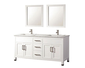 "Ricca 60"" Double Sink Bathroom Vanity Set, White"