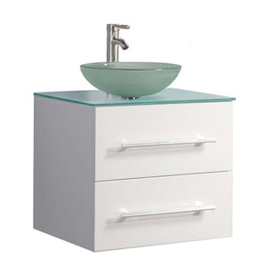 "Caen 36"" Single Sink Wall Mounted Modern Bathroom Vanity , White"