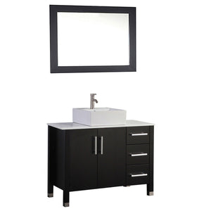 "Aruba 40"" Single Sink Bathroom Vanity Set, Espresso"