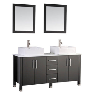 "Aruba 71"" Double Sink Bathroom Vanity Set, Espresso"