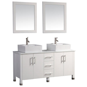 "Aruba 71"" Double Sink Bathroom Vanity Set, White"