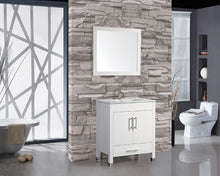 "Monaco 24"" Single Sink Bathroom Vanity Set, White"