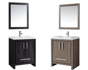 "Miami 30"" Single Sink Bathroom Vanity Set, Black Walnut"