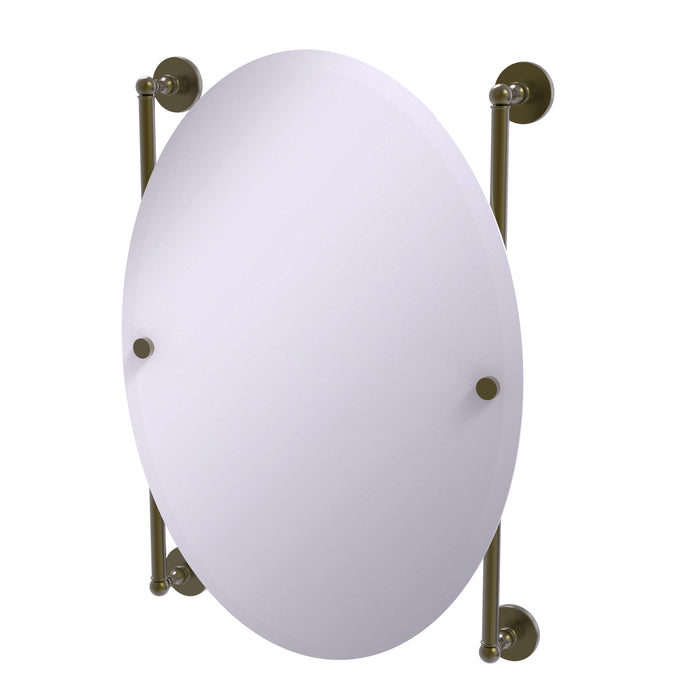 Allied Brass - Prestige Skyline Collection Oval Frameless Rail Mounted Mirror