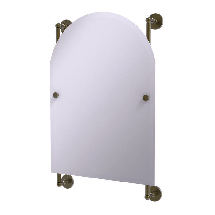Allied Brass - Prestige Skyline Collection Arched Top Frameless Rail Mounted Mirror