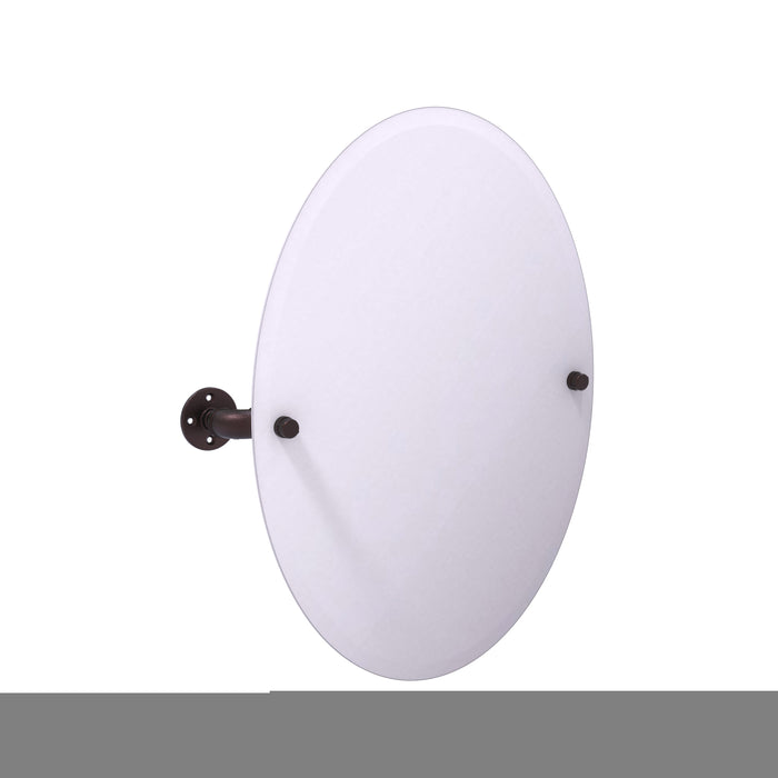Allied Brass - Pipeline Collection Frameless Oval Wall Mounted Tilt Mirror
