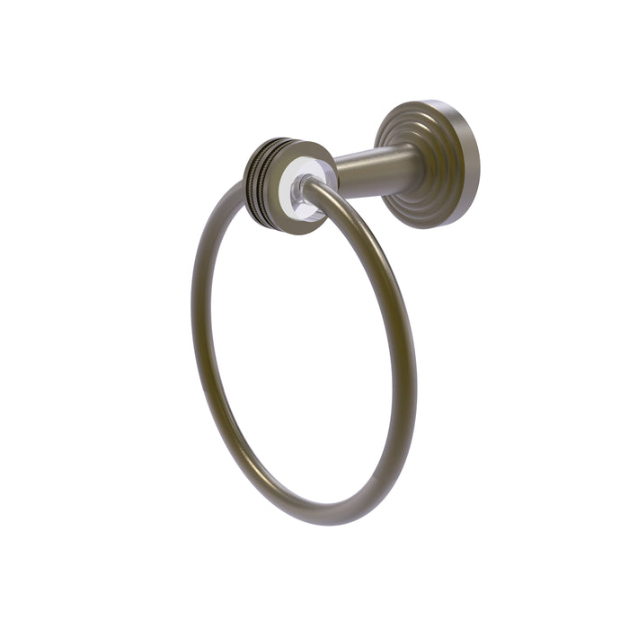 Allied Brass - Pacific Beach Collection Towel Ring with Dotted Accents