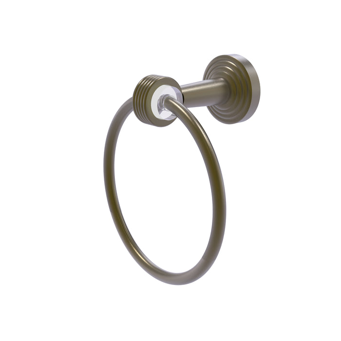Allied Brass - Pacific Beach Collection Towel Ring with Groovy Accents