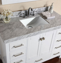 "Pacific - 72"" Malibu White Single Modern Bathroom Vanity With 2 Side Cabinets, White Marble Top With Undermount Sink And Mirror"