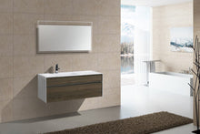 "Kubebath - Fitto 48"" Havana Oak Wall Mount Modern Bathroom Vanity - Single Sink"
