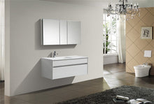 "Kubebath - Fitto 48"" Gloss White  Wall Mount Modern Bathroom Vanity - Single Sink"