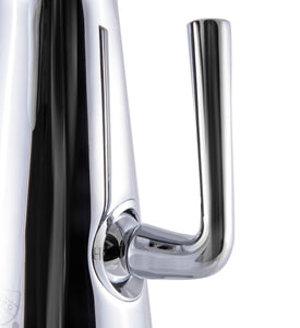 Polished Chrome Single Hole Tall Cone Waterfall Bathroom Faucet