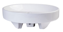 "18"" Round Ceramic Above Mount Bathroom Basin Vessel Sink"