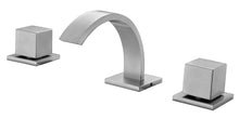 Brushed Nickel Modern Widespread Bathroom Faucet
