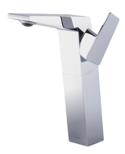 Polished Chrome Single Hole Tall Bathroom Faucet