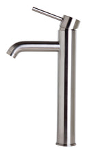Tall Brushed Nickel Single Lever Bathroom Faucet