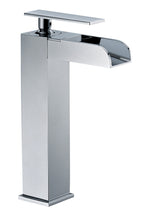 Polished Chrome Single Hole Tall Waterfall Bathroom Faucet