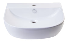 "20"" White D-Bowl Porcelain Wall Mounted Bath Sink"